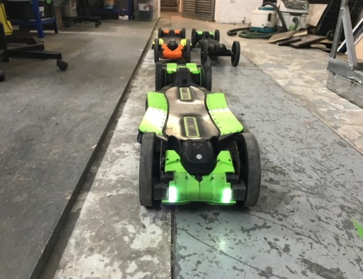 Electric skateboard built from 3d printer components