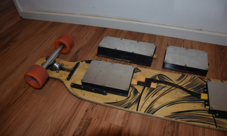 Elektro Skateboard Akku Packs austauschbar