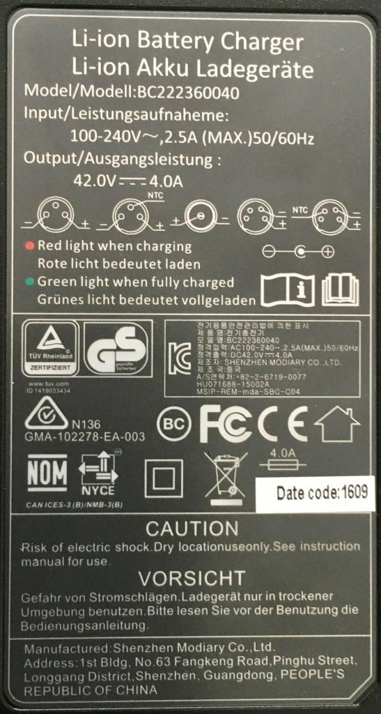 Elektro Skateboard Schnellladegerät