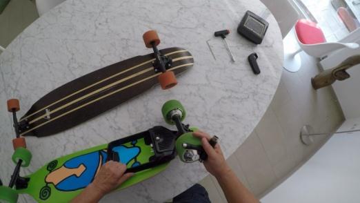 Onan X2 und Nuff Elektro Skateboard