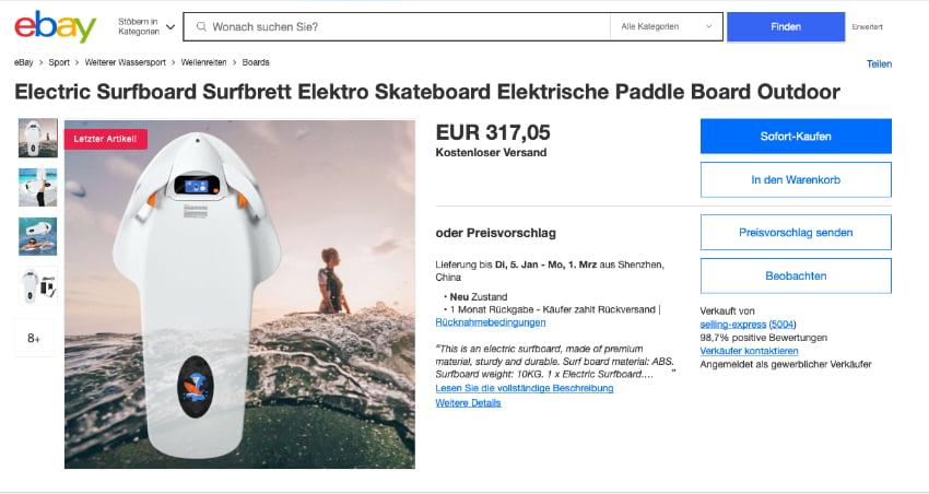 Cheap Jet Body Board on eBay