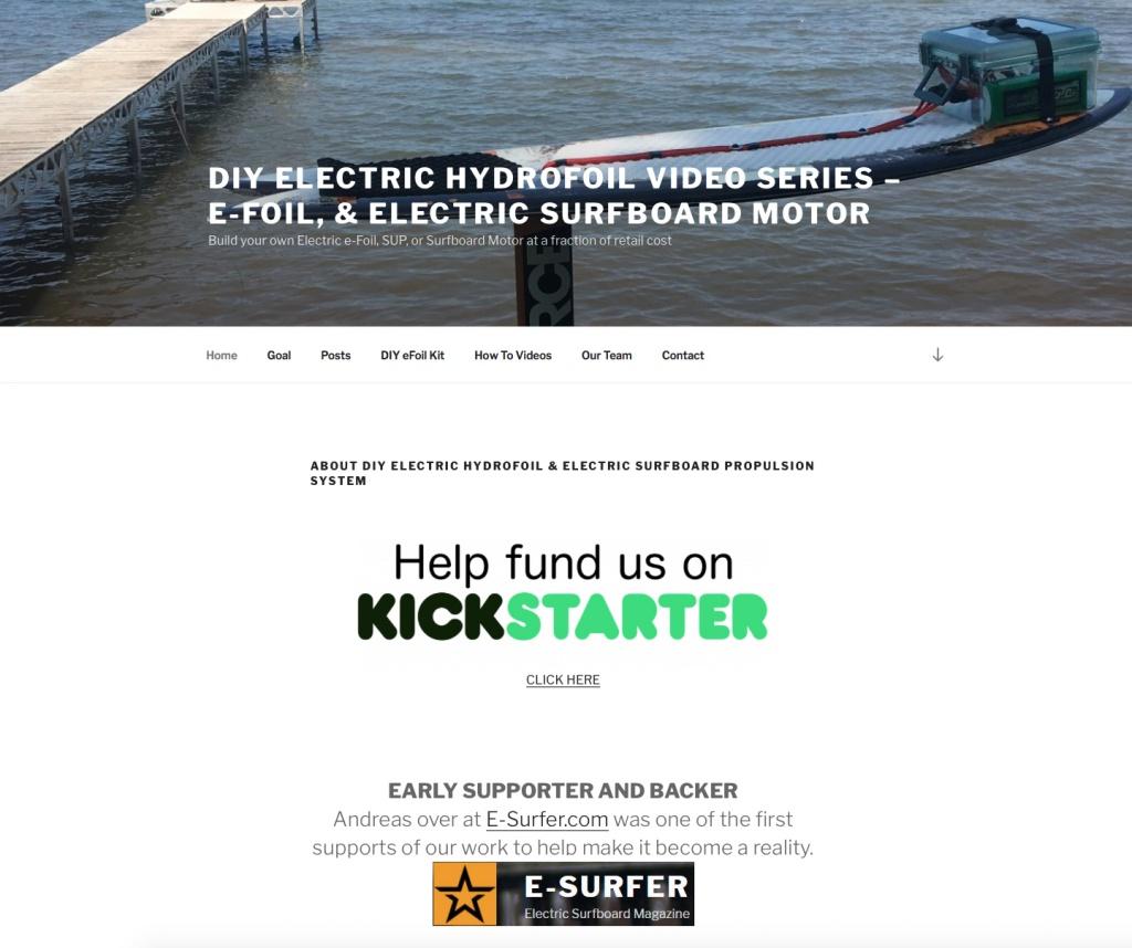 Das DIY Elektro Surfbrett unterstützt von E-Surfer