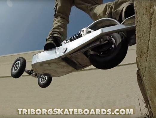 A unique electric skateboard concept