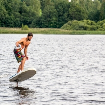 DIY electric Foil Surfboard made in Germany