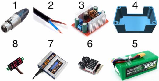 Portables DIY Ladegerät für das Onewheel: Komponenten