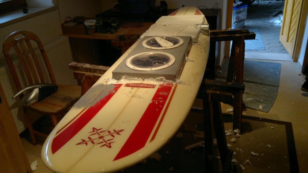 Prototyp des Waterwolf Surfboard von 2011- Bild 1