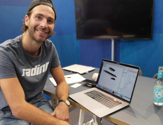 Alexander erkältung uns das Konzept für sein modulares Elektro Surfbrett