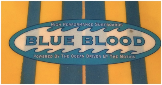 Waynes first surf company: Blue blood Surfboards