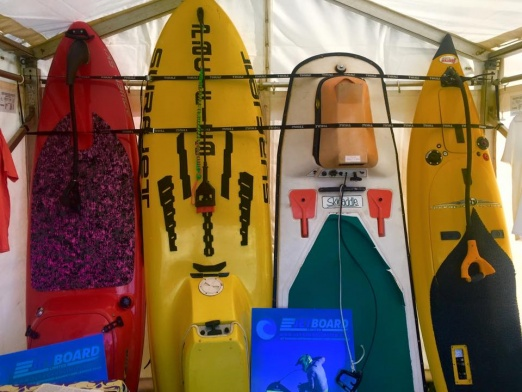 Early models of motorised surfboards