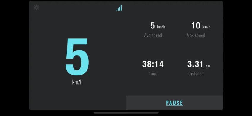 Höchstgeschwindigkeit 5-7 km/h