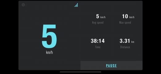 Top speed 5-7 km/h