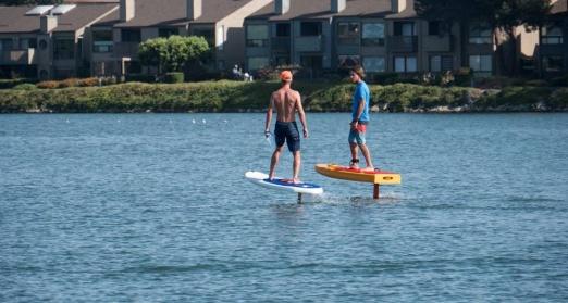 Merten & Don riding their hydrofoils