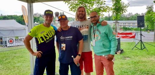Martin (Jetsurf), Andreas (E-Surfer), Wayne (Jetboard Limited) and Sascha (Lampuga)