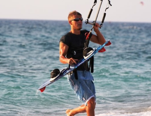 19 years old Mira Kitesurfing in 2007