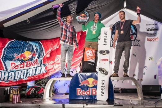 Mira won 3rd place at Redbull Ragnarok 2017 SnowKite Race