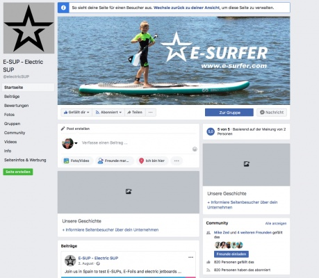 E-SUP - Electric SUP -Fanpage on Facebook