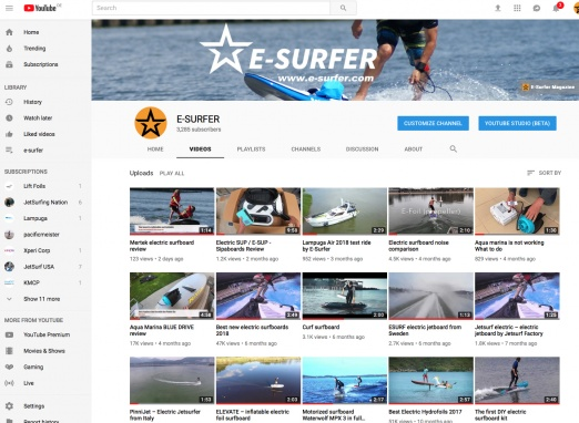 E-SURFER on YouTube