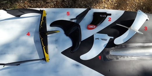 CarverRider from the E-Surfer forum tested different fins