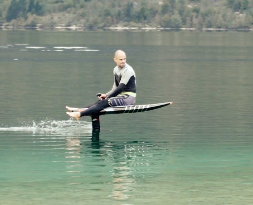 Custome made electric hydrofoil from Flying Rodeo