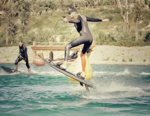 Mike is enjoying his ESURF electric surfboard review ride