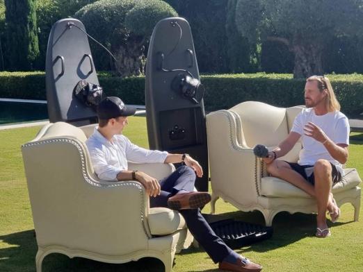 Wayne interviewing Alexander