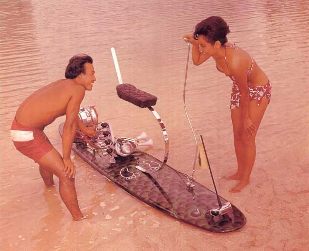 The history of motorised surfboards
