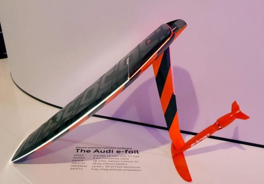 Audi e-tron electric hydrofoil with jet propulsion