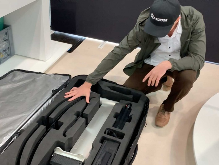 Das Fliteboard kommt in 3 Koffern