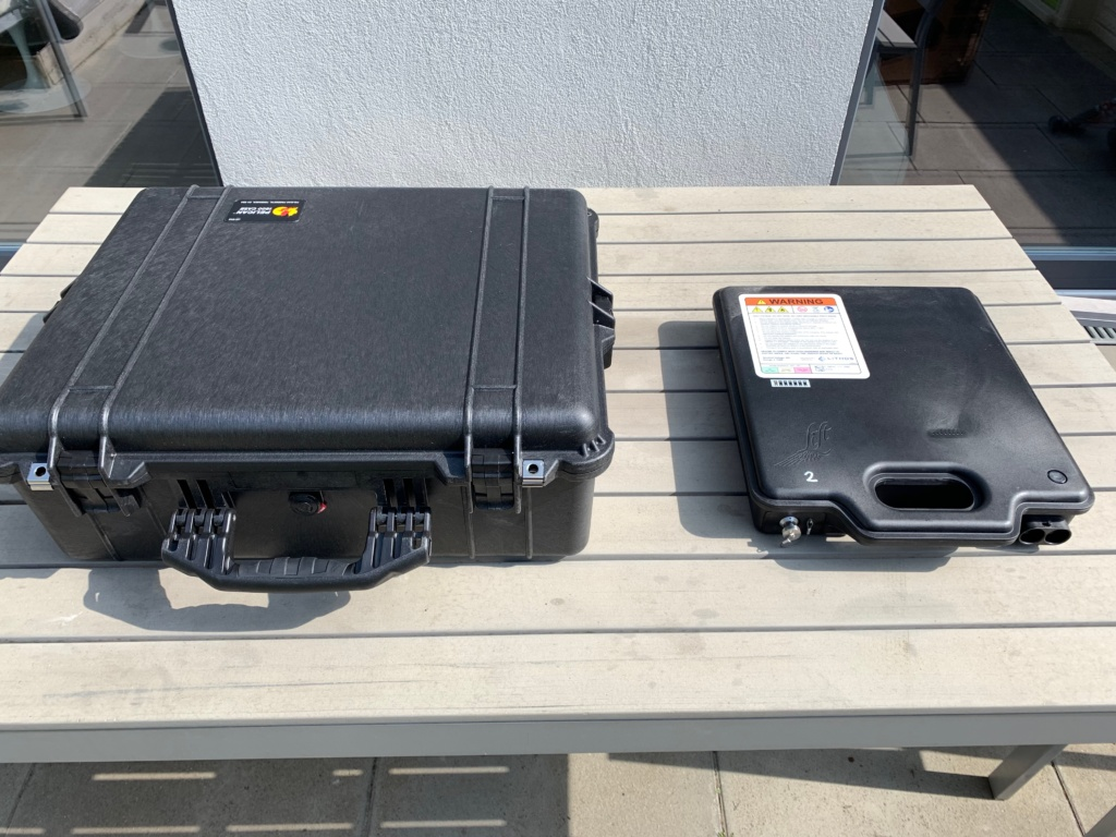 Lithium Ion battery transport box from Lift 1