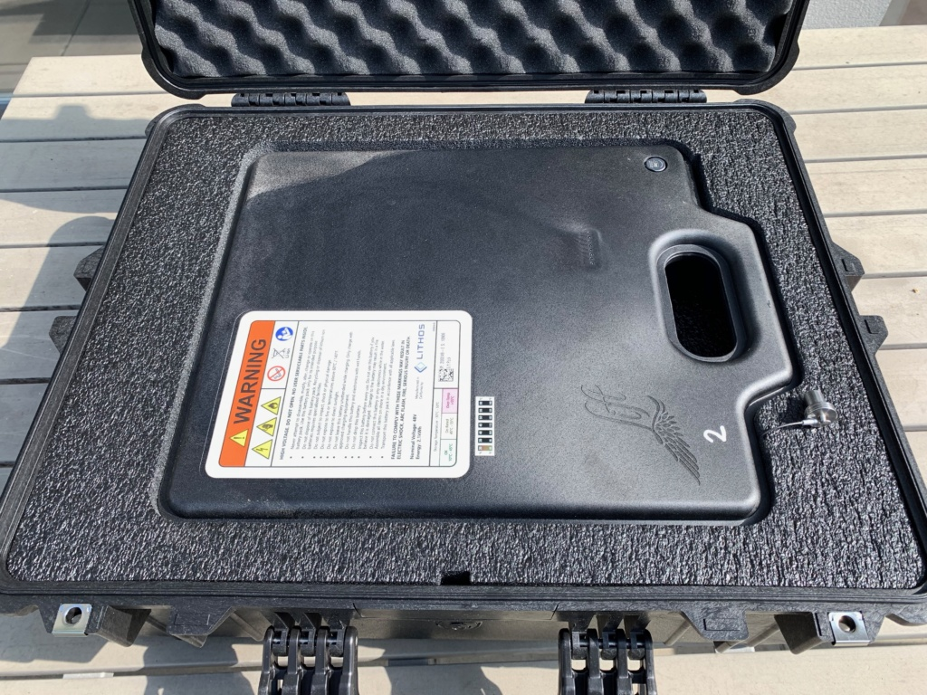 Lithium Ion battery transport box from Lift 3