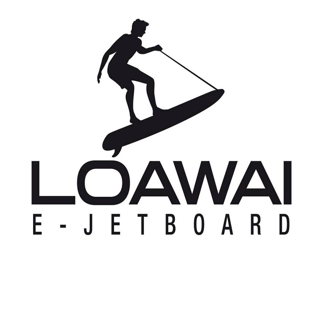 The new LOAWAI e-JETBOARD logo