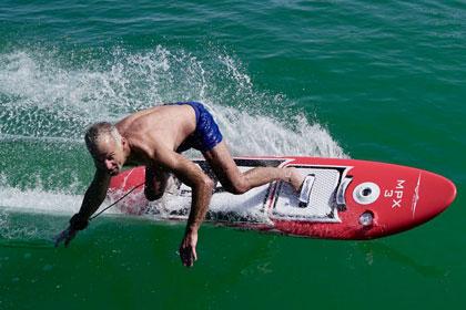 Waterwolf electric surfboard