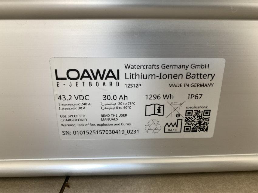 Elektro Surfbrett Batterie