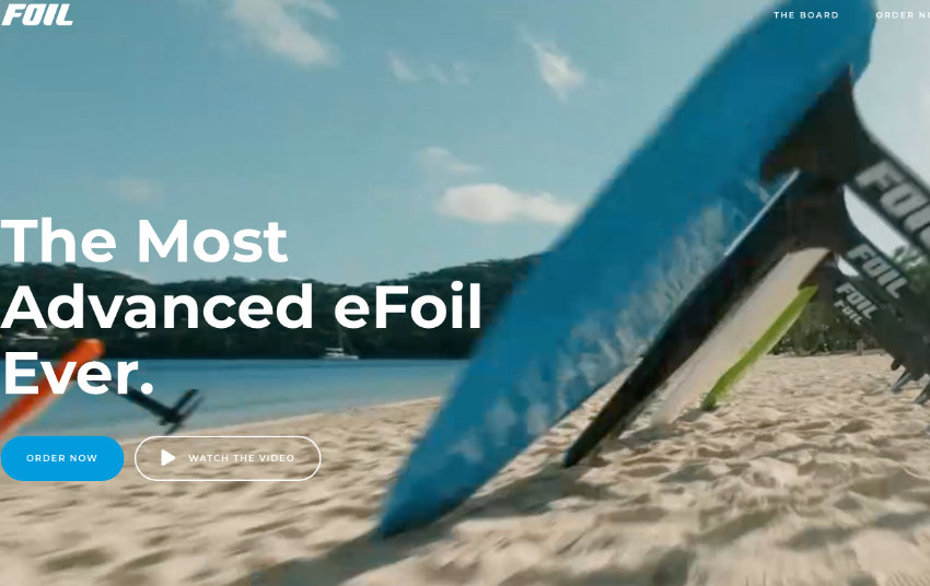 Foil Inc. making big promises with their electric foilboard