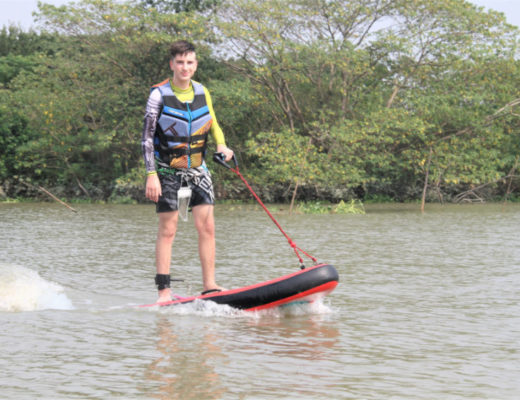 Gromjet electric surfboard for kids