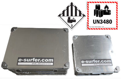 Electric surfboard battery box in different sizes