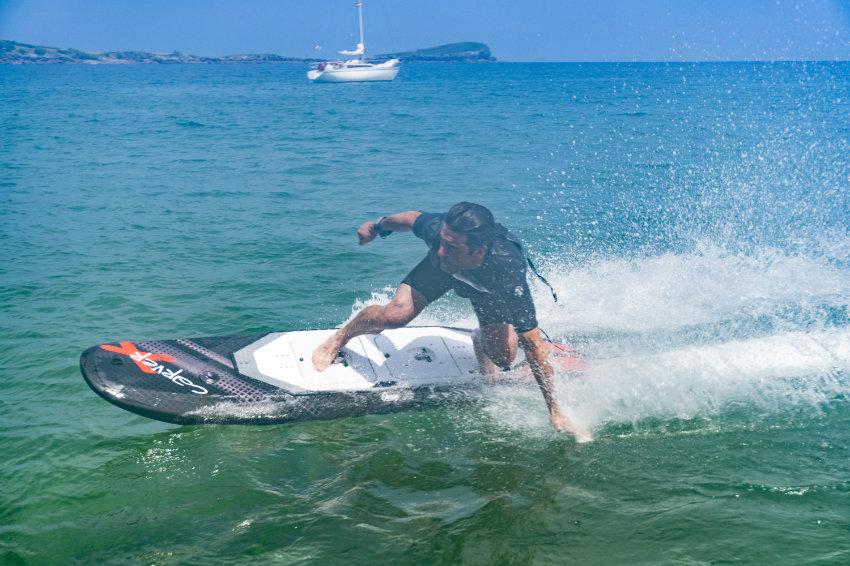 Inigo riding the CARVER X