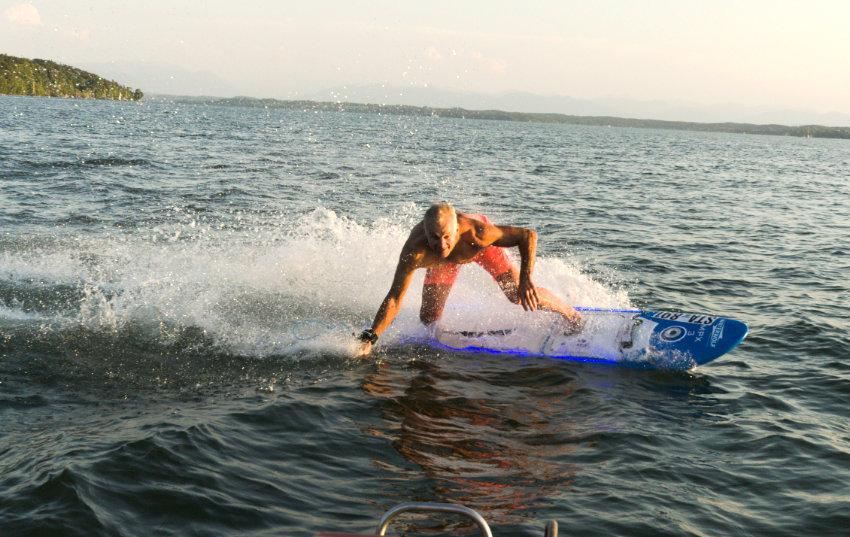 Markus surf den Waterwolf