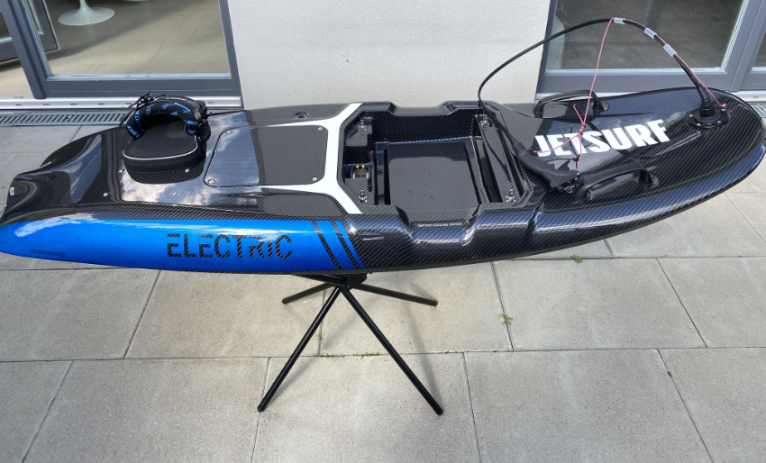 Jetsurf Electric on the stand