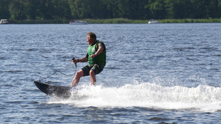 Riding the Jetsurf Electric is definitely fun