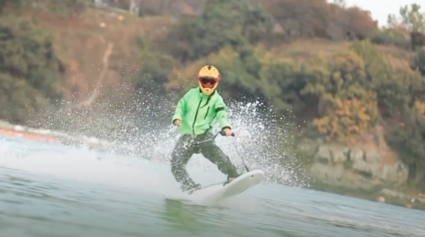 The Jetboard JW S30 in action
