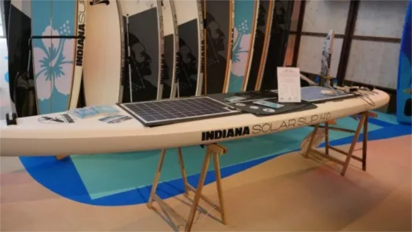 Electric SUP with solar power