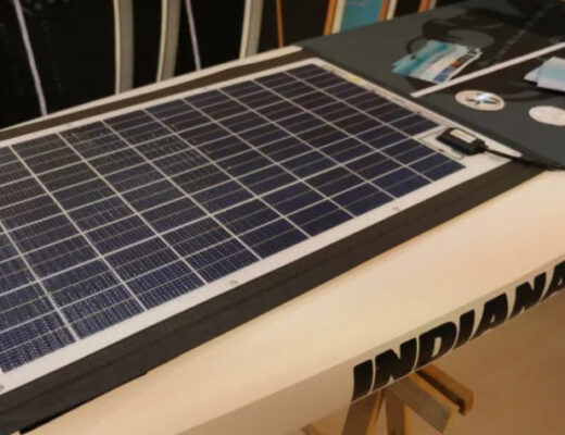 solar powered paddle board